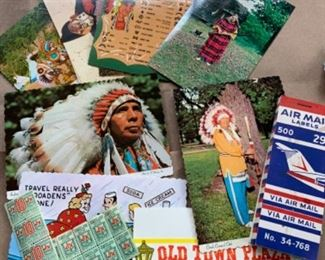 Collectible postcards etc