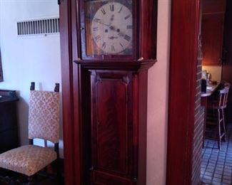 Antique grandfather clock in working order. Exquisite.