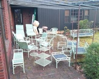 Meadowcraft patio furniture!  Huge array along with other pieces in same hue. We may market these pieces before the sale so please inquire if you would like to make a serious offer. Thank you.