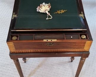 Antiquw Writing Chest opened