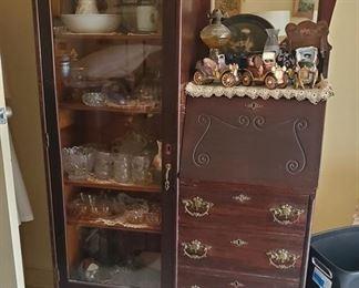 Antique secretary bookcase $170