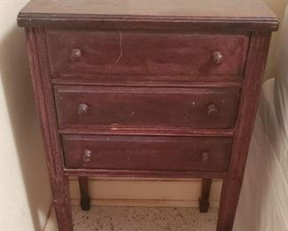 Sewing side table $18