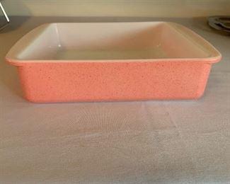 Vintage flamingo pink 8 inch Pyrex