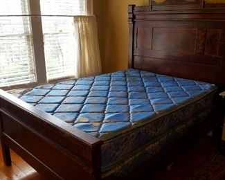 Full size bed, mattress not included