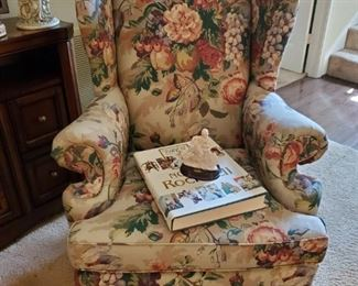 WINGBACK CHAIR....NORMAN ROCKWELL BOOK