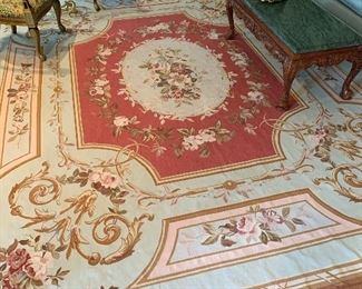 "Aubusson wool carpet in good condition.  Price $1500. Dimensions 13'7"" x 10'7"""
