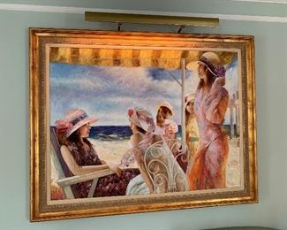 "Beach Painting in mint condition.  Dimensions 4'7""x3'7""  Price $1800"