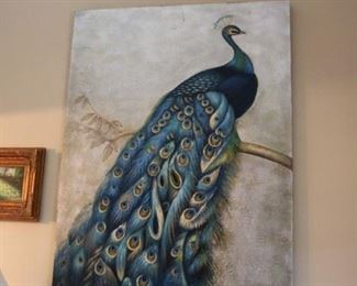 Grace Feyock Large Peacock Painting
