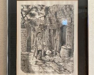 """Emanuel Schary """"Safad, In Galillee"""" 55/200 $200  **CALL (847) 630-1009 TO PURCHASE**"""