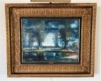"""R.J. Bizet """"French Country Scene"""" 24""""x18"""" $1,500  **CALL (847) 630-1009 TO PURCHASE**"""