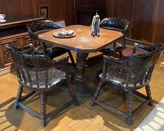 Vintage Game Table and Chairs Set $300  **CALL (847) 630-1009 TO PURCHASE**