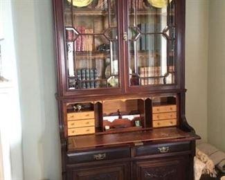 $1,295 - Scottish Bookcase / secretary, maple drawers
