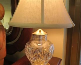 Waterford table lamp.