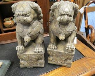 Very heavy temple foo dog statues.