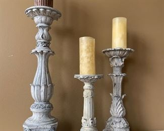 Candlesticks (3) - $25 or best offer.