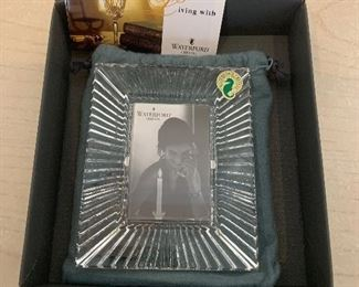 """Waterford picture frame - new in box (2""""x3"""") - $40 or best offer."""