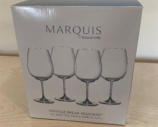 Waterford Marquis wine glasses (4) - new in box - $50 or best offer.