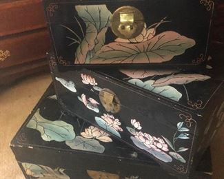 Japanese lacquer boxes that contain talking fish that will grant you one wish (probably)