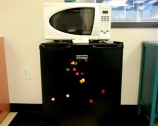 Lot 105 Emerson Mini Fridge Sunbeam Microwave Caffitaly System