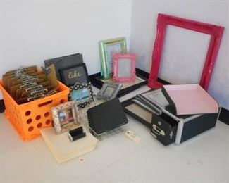 Lot 109 Assorted Office Goods and Picture Frames
