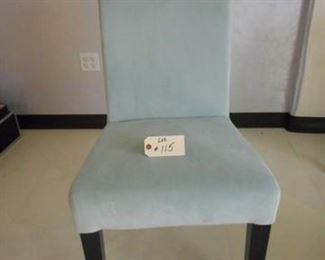 Lot 115 Soft Blue Suede Chair