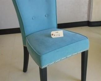 Lot 116 Medium Blue Colored Chair