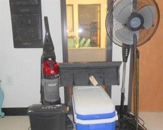 Lot 118 Assorted Home Goodies paper shredder vacuum floor fan  others
