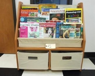 Lot 121 Magazine or Book Rack with two drawers  photography magsa