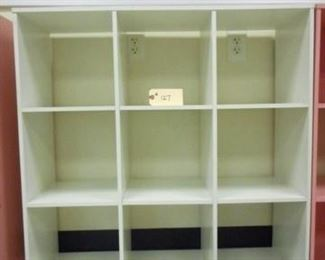 Lot 127 Simple White Wooden Cubby Shelf