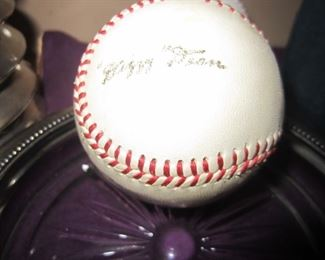 Cardinals broadcaster signed ball - Dizzy Dean