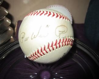 Cardinals broadcaster signed ball - Pee Wee Reese