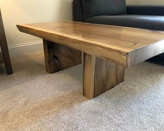 "Wooden Coffee Table.  Originally bought with the Wooden Side Table also in the sale.  24""l x 17""w x 48""h."