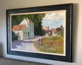 "Framed Original Oil Painting by Y. Kimbroug,  Signed.  43"" x 31"""