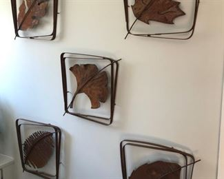"Each leaf is Cast Iron and is 15"" square and 1.5"" deep."