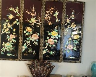 Lacquer wall hanging