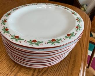 Hearts and Pines dinner plates
