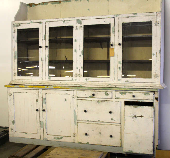 American hutch from and old time drug store- has beautiful hints of green patina!