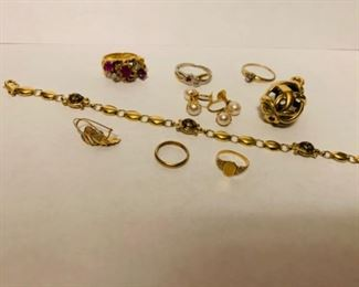 14ct gold jewelry call for individual prices