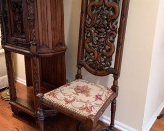 (another view of high back chair)