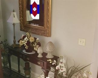 CHERRY ENTRY WAY TABLE & MIRROR