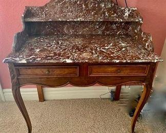 Antique Desk with Marble Top https://ctbids.com/#!/description/share/352598