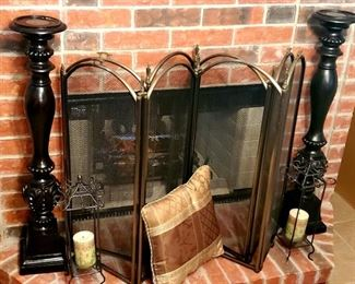 Two fireplace covers; Home Decor
