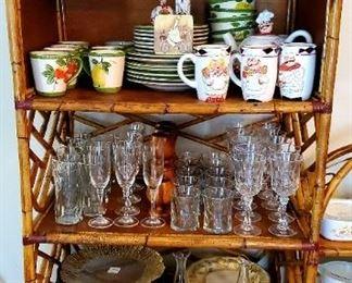 Bamboo Cabinets; Dishware