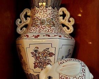 Japanese Vase and Elephant