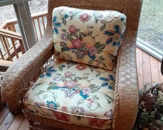 Henry Link Wicker patio  chair $95 1 of 3 piece patio set Real Wicker Not plastic