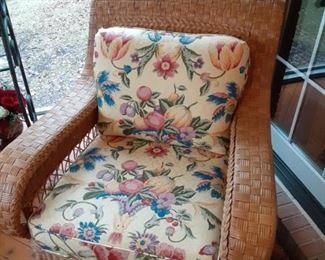 Wicker chair $95 patio furniture