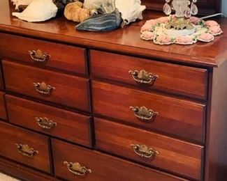 Cherry dresser with mirror $100