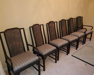 Century Cane Back Ming style Dining Chairs