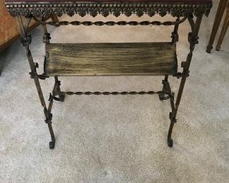 Marble top antique hallway table