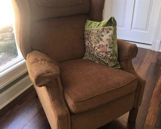 $125 Wingback chair recliner